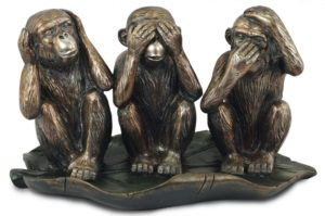 Photo of Three Wise Monkeys Bronze Ornament