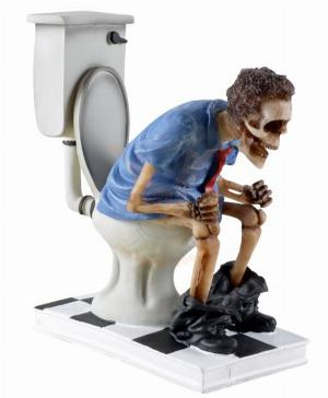 Photo of Toilet Skeleton Figurine