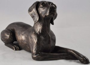 Photo of Weimaraner Bronze Dog Sculpture (Harriet Glen) 24cm