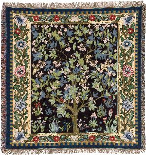 Phot of William Morris Tree Of Life Tapestry Throw