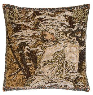 Phot of Winter By Mucha Tapestry Cushion