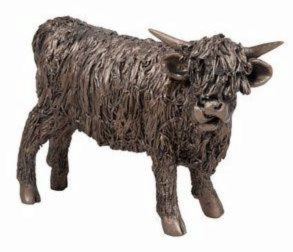 Photo of Young Bull Bronze Sculpture