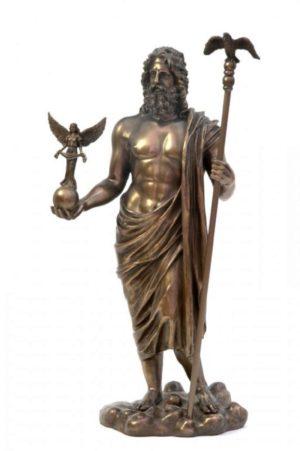 Photo of Zeus Bronze Statue 31 cm