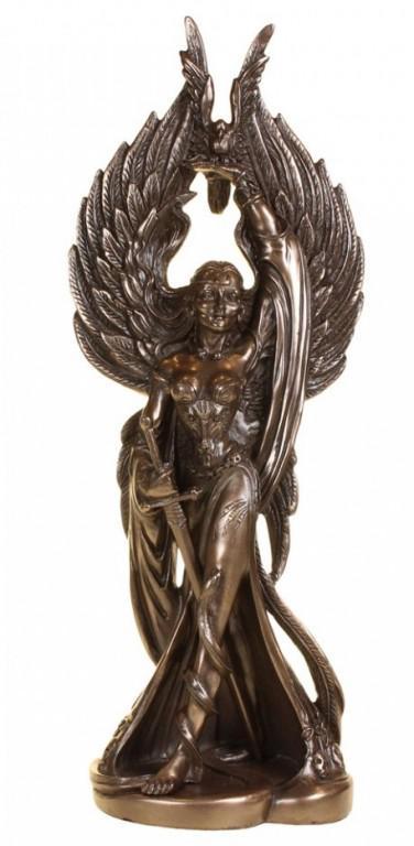 Photo of Celtic Morrigan Figurine War Goddess 31 cm