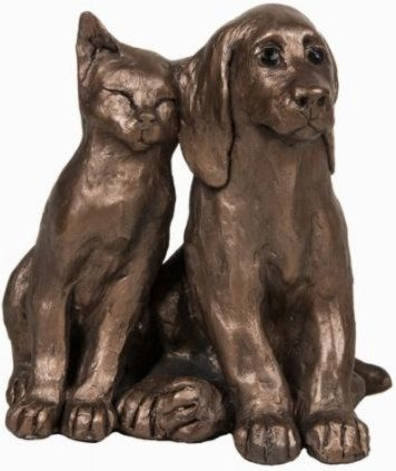 Photo of Jack and Millie Friends Dog and Cat Ornament Paul Jenkins