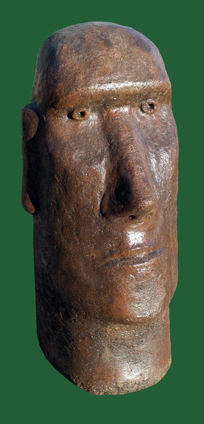 Phot of Moai Head Stone Sculpture