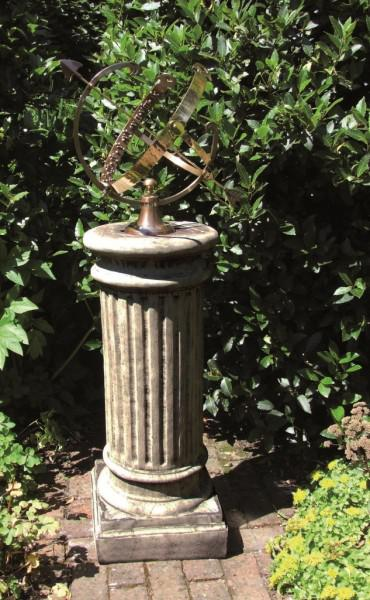 Photo of Oxford Stone Column with Brass Armillary