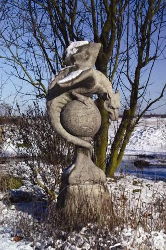 Photo of Wyvern Stone Sculpture