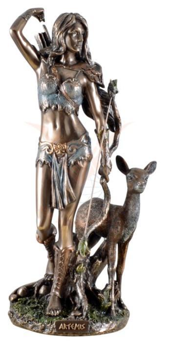 Photo of Artemis Goddess of the Hunt Bronze Figurine 25 cm