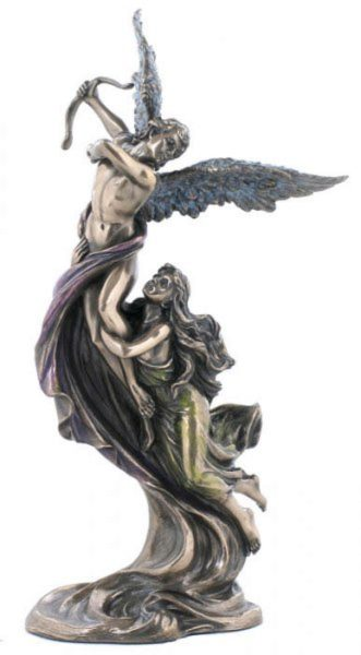 Photo of Cupid and Psyche in Flight Bronze Figurine