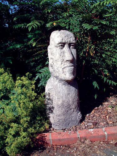 Photo of Large Moai Head Stone Sculpture