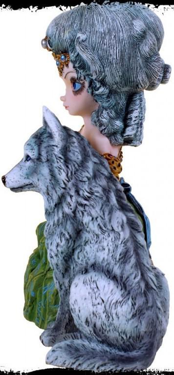 LA GRANDE PRETRESSE Wolf Art Trinket Box By Jasmine Becket-Griffith LOUP GAROU