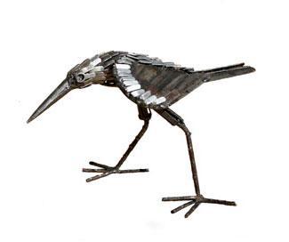 Photo of Sandpiper Bird Metal Garden Ornament (Pecking)