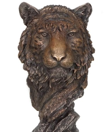 Photo of Tiger Bust Bronze Figurine