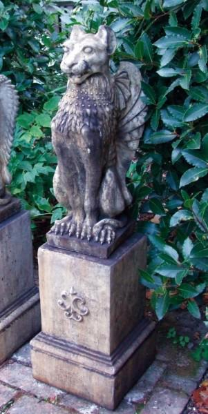Photo of Winged Lion Stone Statue