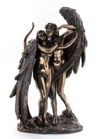 Photo of Cupid and Psyche Bronze Figurine