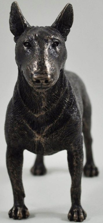 Photo of English Bull Terrier Standing Bronze Dog Sculpture 14.5cm
