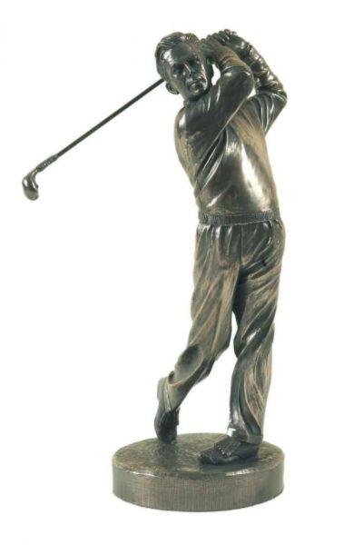 Photo of The Swing Golf Bronze Gold Sculpture