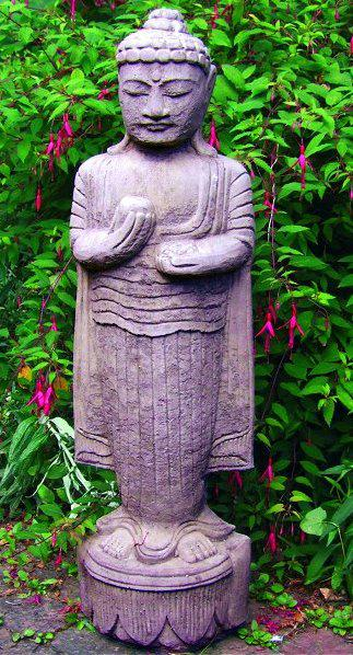 Photo of Upright Buddha Stone Statue