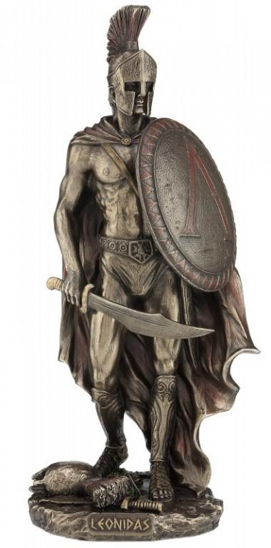 Photo of Leonidas King of Sparta Bronze Figurine 26cm
