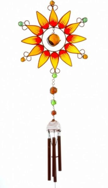 Photo of Orange Sunflower Windchime (Large) BESTSELLER