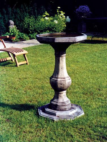 Photo of Pedestal Stone Birdbath