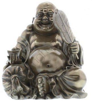 Photo of Sitting Wealth Buddha Figurine Polished Bronze (Juliana) 21cm
