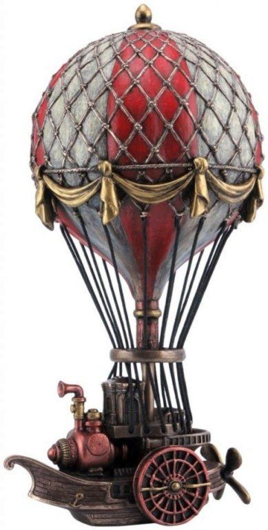 Photo of Steampunk Air Ship Bronze Figurine 24.5cm
