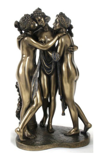 Photo of The Three Graces Bronze Statue 29 cm