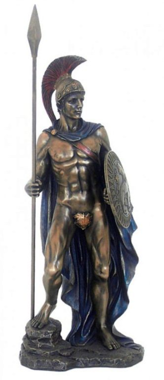 Photo of Ares Greek God of War Bronze Statue