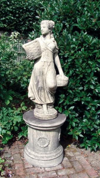 Photo of Country Girl (Medium) Stone Statue