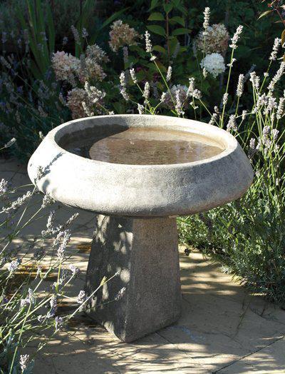 Photo of Pure and Simple Stone Birdbath