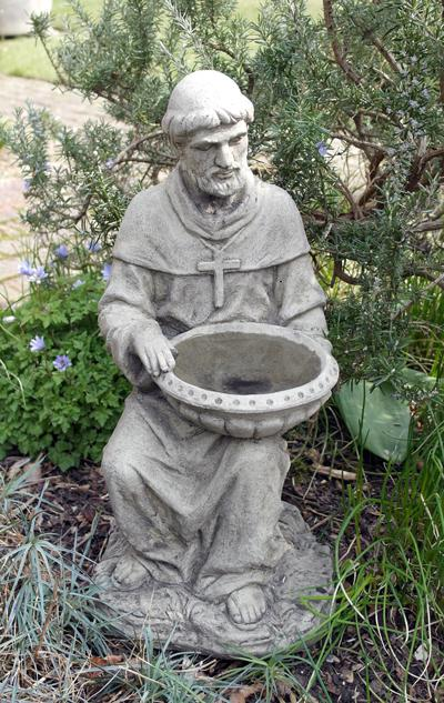 Photo of Saint Francis of Assisi Stone Birdbath 52 cm