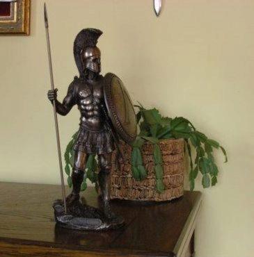 Photo of Spartan Warrior Bronze Figurine 36 cm