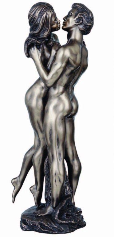 Photo of The Embrace Nude Couple Bronze Figurine 35 cm