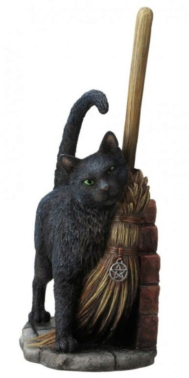 Photo of A Brush with Magick Cat Figurine (Lisa Parker) 27cm