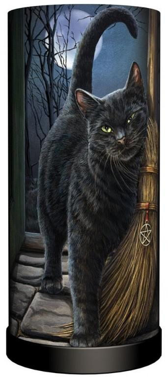 Photo of A Brush With Magick Cat Table Lamp (Lisa Parker) 28cm
