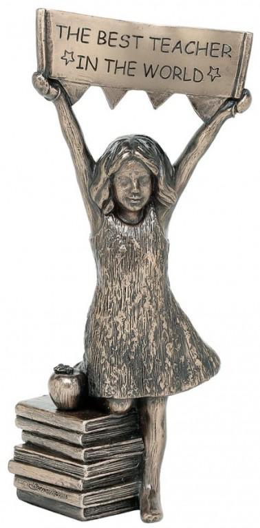 Photo of Best Teacher (Girl) Bronze Figurine