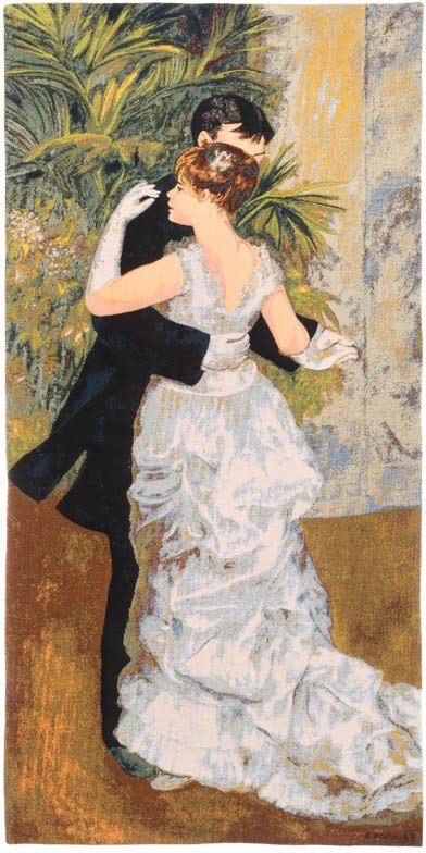 Phot of Dance In The City By Pierre-Auguste Renoir Wall Tapestry