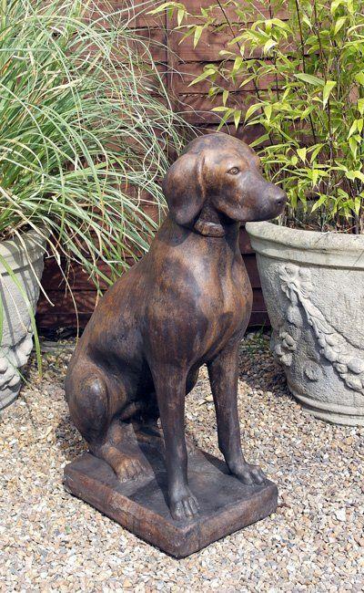 Phot of Dog Stone Garden Sculpture