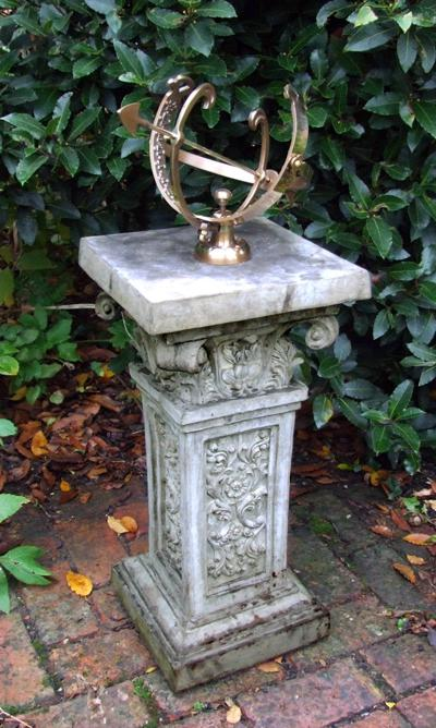 Photo of Rococo Stone Plinth with Armillary Sundial