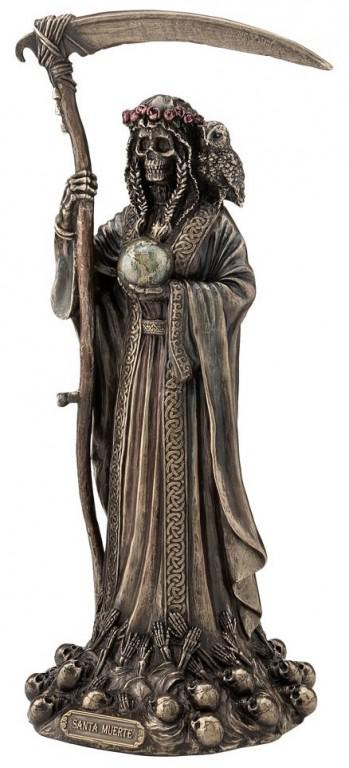 Photo of Santa Muerte Bronze Figurine 29 cm