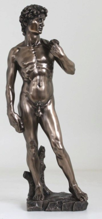 Photo of David Bronze Figurine Statue Large 51 cm