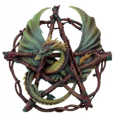 Photo of Forest Dragon Pentagram Wall Plaque (Anne Stokes)