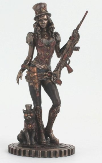 Photo of Steampunk Bounty Hunter Figurine Bronze