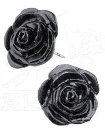 Photo of Black Rose Studs (Pair)