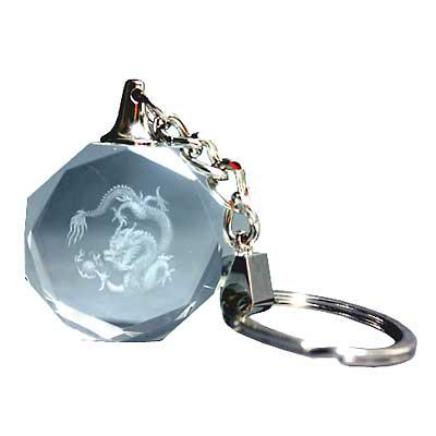 Chinese Dragon Laser Etched Keyring Gothic Gifts
