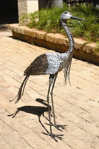 Photo of Demoiselle Crane Metal Garden Ornament
