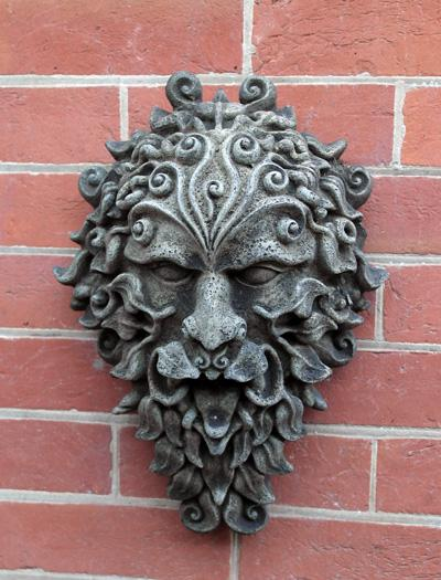 Photo of Green Man Stone Wall Plaque Large