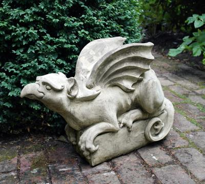 Photo of Griffin Looking Up Stone Sculpture